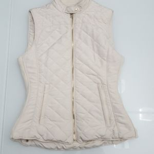 Zara Woman Quilted Puffer Vest Sz Small